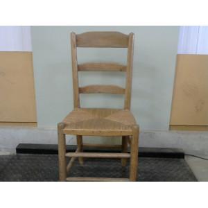 chaise en bois paille