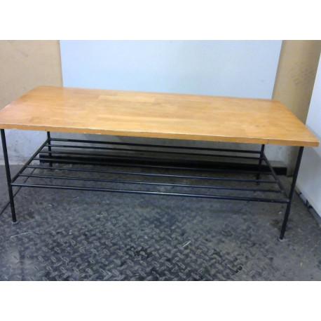 Table basse bois fer