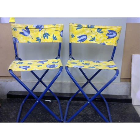 Lot de 2 chaises de camping