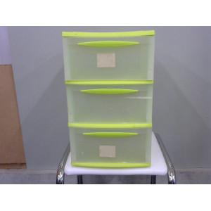 Casier 3 tiroirs en plastique