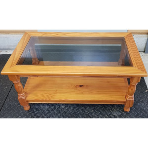 Table basse plateau en verre