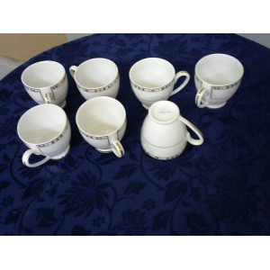 Tasses en Porcelaine de Limoge lot de 7