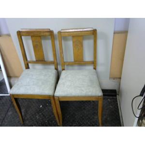 Lot de 2 chaises bois assises vertes