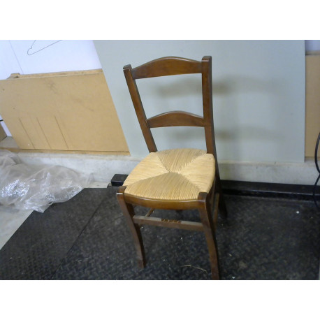 Chaise bois assise paille