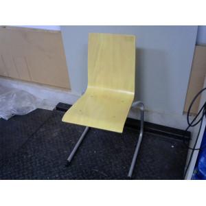 Chaise jaune pied en métal