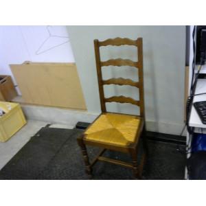 Lot de 6 chaises en bois assise paille