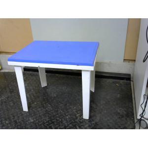 Table enfant bleue et blanche