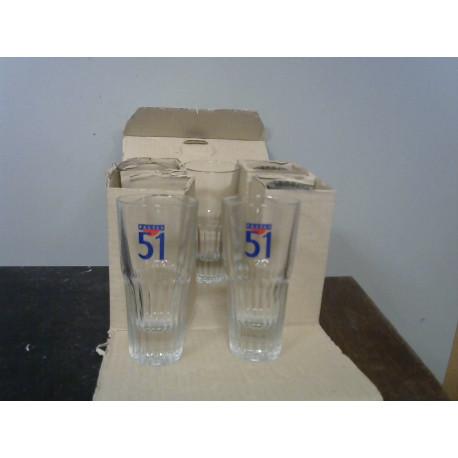 Lot 6 verres Pastis 51