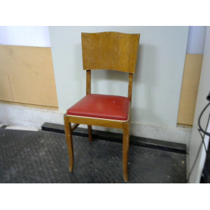 Chaise assise rouge