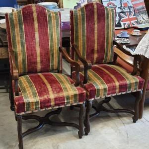 lot 5 chaises avec accoudoirs