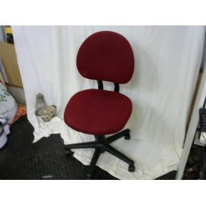 Chaise de bureau bordeau