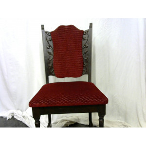lot 6 chaises rouge