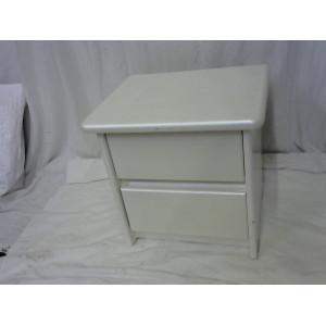 Table de chevet blanc nacrée