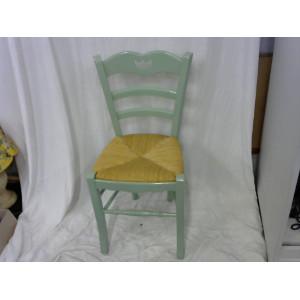 Chaise en bois assise paille