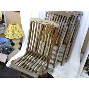 Lot de 4 chaises de jardin en bois