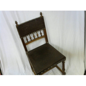 Lot 3 chaises assises cuir