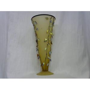 Vase haut décor feuille