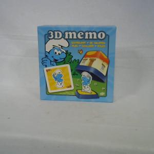 Jeu 3D MEMO Schtroumpf