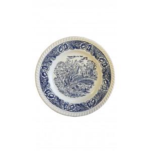 Assiettes motifs bleus