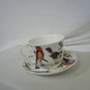 tasse et sous tasse oiseaux