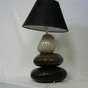 Lampe 3 galets abat jour inclinable