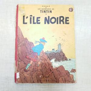 BD Tintin l'île noire