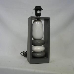 Pied de lampe blanc et gris
