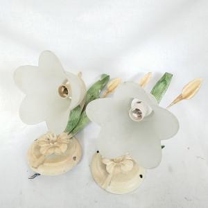Lot de 2 appliques fleurs