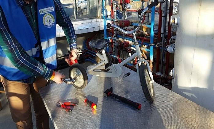 Réparation d'un vélo